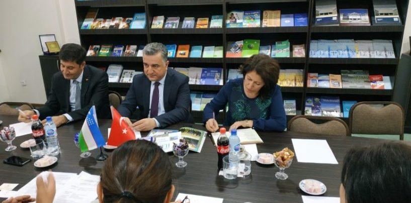 TURKIYANING OʻZBEKISTONDAGI FAVQULODDA VA MUXTOR ELCHISINING OʻzDJTUGA TASHRIFI