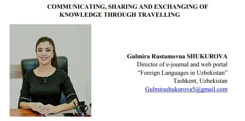 COMMUNICATING, SHARING AND EXCHANGING OF KNOWLEDGE THROUGH TRAVELLING
