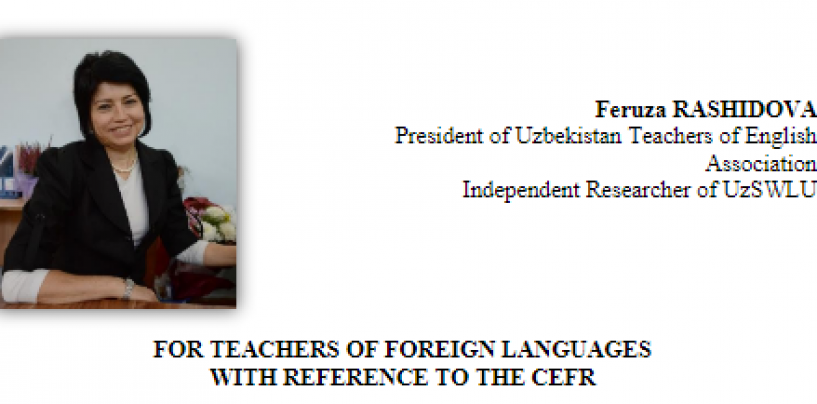 FOR TEACHERS OF FOREIGN LANGUAGES WITH REFERENCE TO THE CEFR