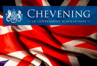 APPLICATIONS FOR 2020/2021 CHEVENING SCHOLARSHIPS ARE OPEN