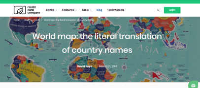 INTERESTING FACTS. PUBLISHED WORLD MAP WITH A LITERAL TRANSLATION OF COUNTRY NAMES / STAY HOME!