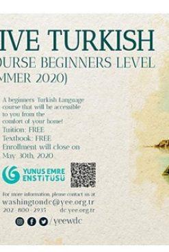 BEPUL ONLAYN KURS: BOSHLANG'ICH TURK TILI