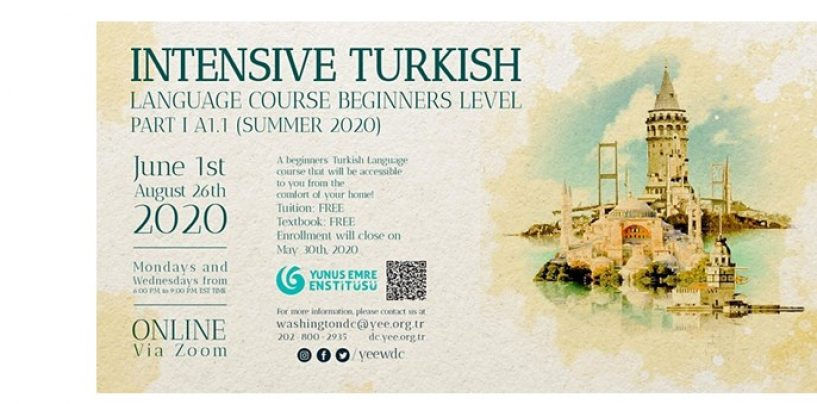 INTENSIVE TURKISH LANGUAGE COURSE FOR BEGINNERS