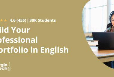 BUILD YOUR PROFESSIONAL ePORTFOLIO IN ENGLISH