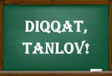 ILMIY LOYIHALAR TANLOVI E'LON QILINDI