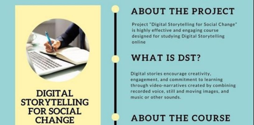 """DIGITAL STORYTELLING FOR SOCIAL CHANGE"" ONLINE COURSE"