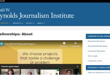 THE 2020 RJI FELLOWSHIP PROGRAM| MISSOURI SCHOOL OF JOURNALISM
