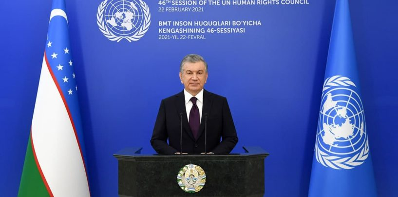 SPEECH BY THE PRESIDENT OF THE REPUBLIC OF UZBEKISTAN SHAVKAT MIRZIYOYEV AT THE 46TH SESSION OF THE UNITED NATIONS HUMAN RIGHTS COUNCIL