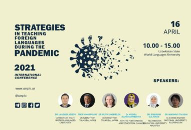 """""""STRATEGIES IN TEACHING FOREIGN LANGUAGES DURING THE PANDEMIC"""" ONLINE CONFERENCE STARTED"""