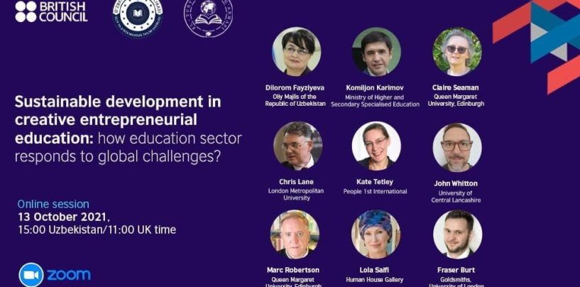 SUSTAINABLE DEVELOPMENT IN CREATIVE ENTREPRENEURIAL EDUCATION: HOW EDUCATION SECTOR RESPONDS TO GLOBAL CHALLENGES?  WEBINAR